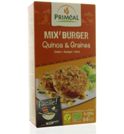 Quinoa burger seeds mix