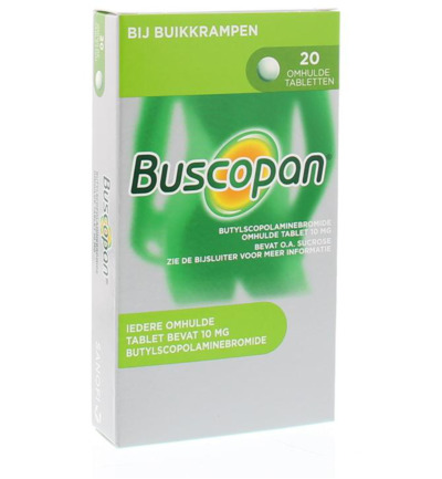 Buscopan 10 mg omhulde tablet