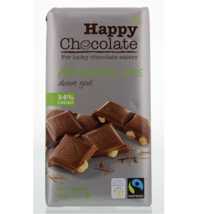 Happy chocolate melk 34% hazelnoot