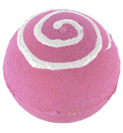 Bath ball pink swirl