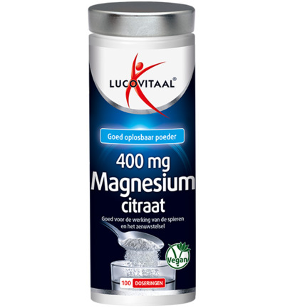 Magnesium citraat 400 mg poeder