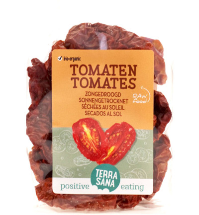 Raw tomaten zongedroogd