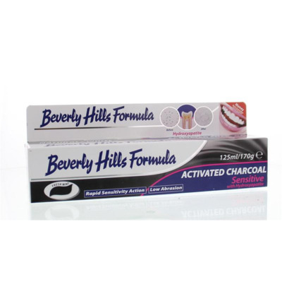 Afbeelding van Beverly Hills Tandpasta Naturel Whitening Active Charcoal 125ml