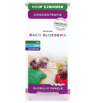Bach bloesems parels kind concentratie