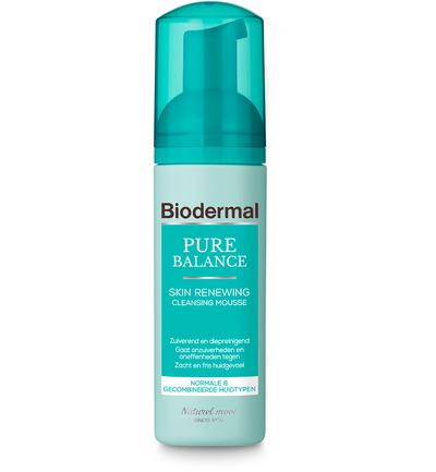 Afbeelding van Biodermal Cleansing Mousse Pure Balance Skin Renewing