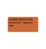 Sticker dubbelmedicatie