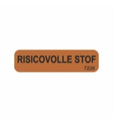 Sticker risicovolle stof