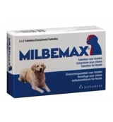 Grote hond 2x2 ontwormingtabletten 125/12.5mg