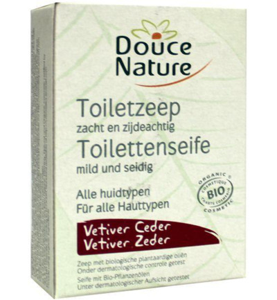 Toiletzeep vetiver ceder bio