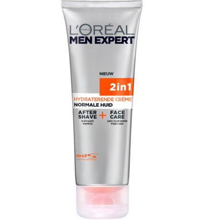 Loreal Paris Men Exper 2in1 Aftershave + Face Care Normale Huid 75ml