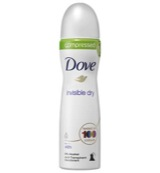 Deodorant body spray compressed invisible dry