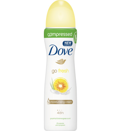 Deodorant spray compressed go fresh grapefruit