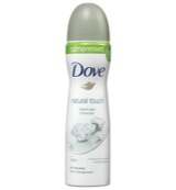 Deodorant spray compressed natural touch