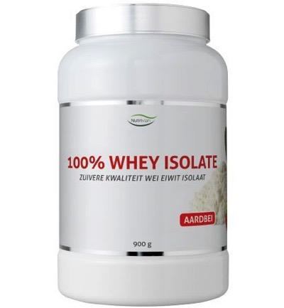 100% Whey isolate stevia aardbei