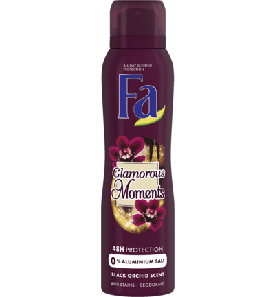 Deodorant spray glamorous moments