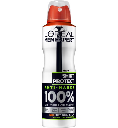 Men expert deodorant spray shirt protect