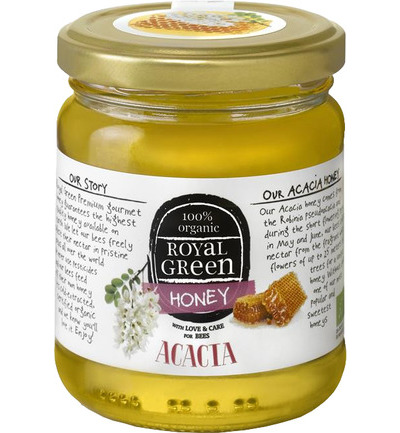 Royal Green Acacia Honey (acaciahoning) 250 gram