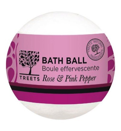 Bath ball rose & pink pepper
