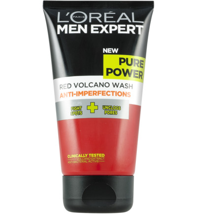 Pure Power volcano face wash