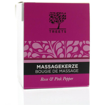 Massage candle rose & pink pepper