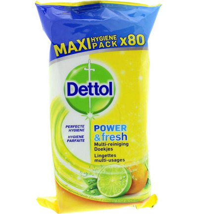 Power & fresh wipes citrus