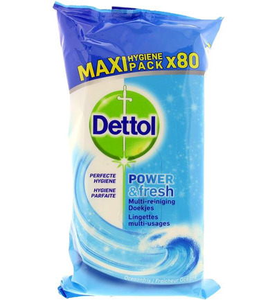 Power & fresh wipes ocean