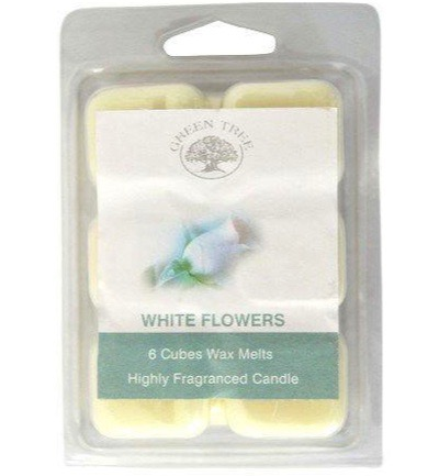 Wax melts white flowers