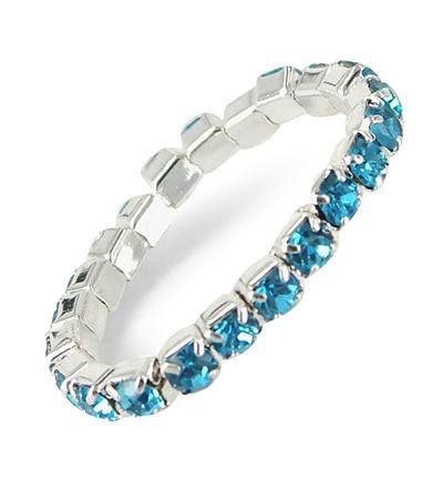 Ring stretch blauw