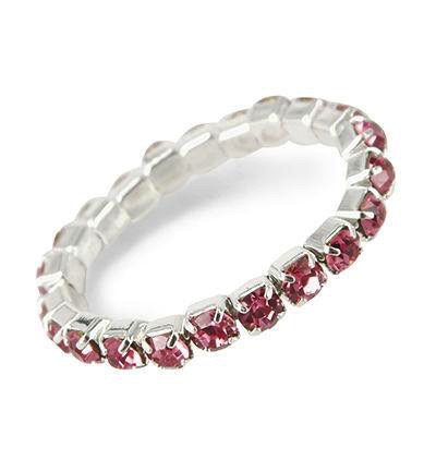 Ring stretch roze