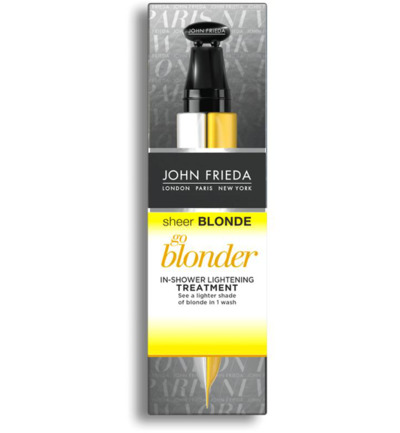 Sheer blonde go blonder lightening treatment