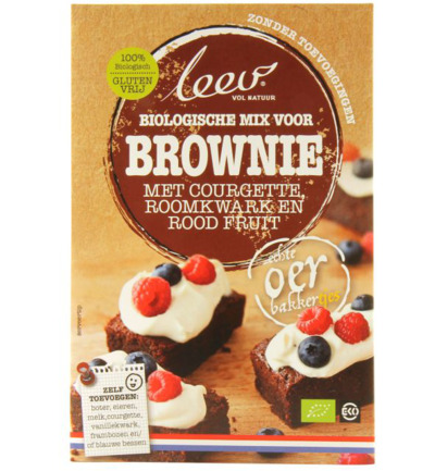 Bio mix brownie framboos & bosbes