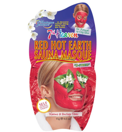 7th Heaven gezichtsmasker red hot earth sauna