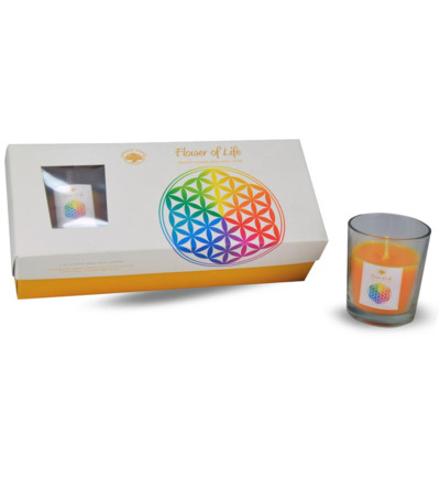 Giftset geurkaars flower of life