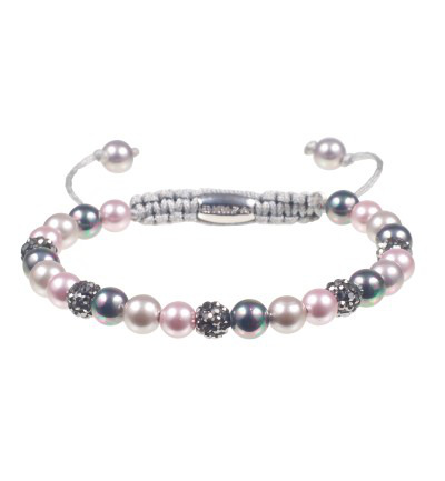 Armband bibiza 14 parel rose