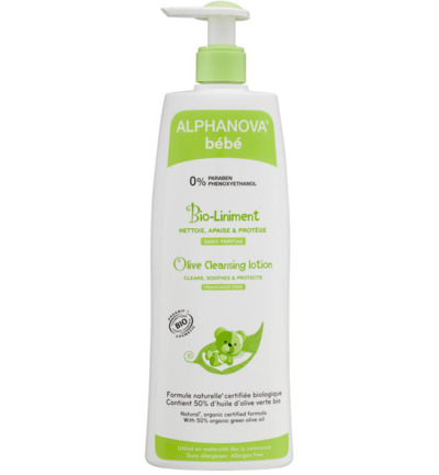Afbeelding van Alphanova Baby Bio Olive Cleansing Lotion 500ml