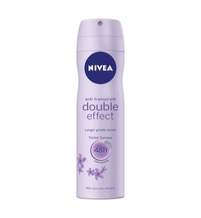 Deodorant double effect spray
