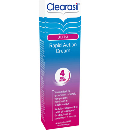 Ultra rapid action cream