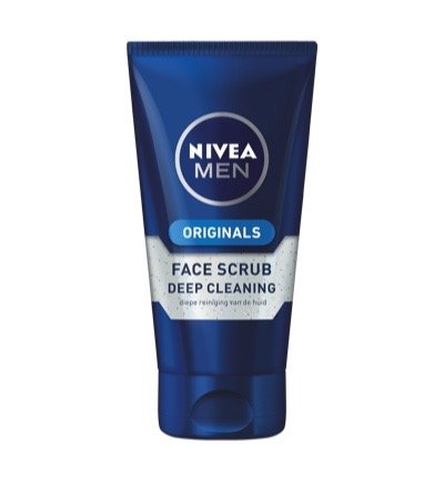 Men deep clean face scrub