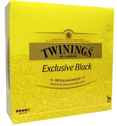 Exclusive black tea envelop