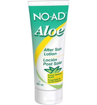 After sun lotion aloe