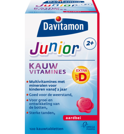 Junior 2+ KauwVitamine Aardbei
