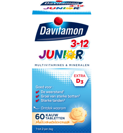 Junior 3+ KauwVitamines Multifruit