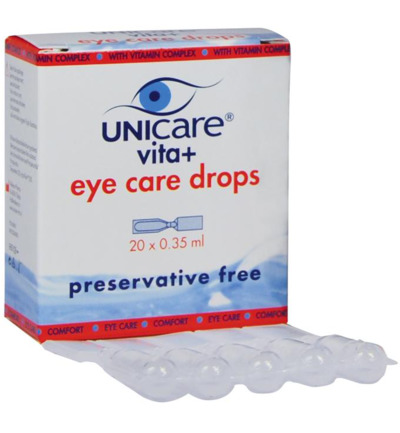 Unicare Oogdruppels Vita+ Eye Care Met Dexpanthenol 20x35ml