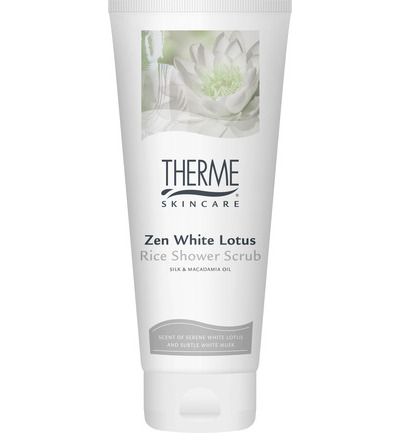 Shower scrub zen white lotus rice