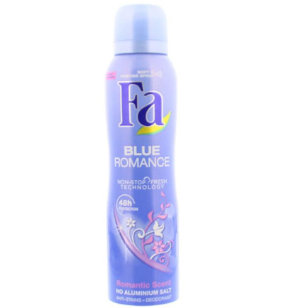 Deodorant spray blue romance