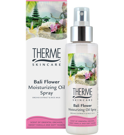 Moisturizing oil spray Bali flower