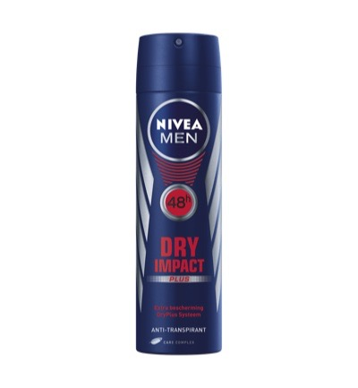 Men deodorant dry impact spray