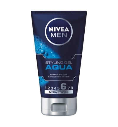 Hair care styling aqua gel for men