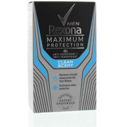 Deodorant stick max protect clean scent men