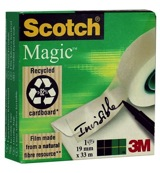 Scotch magic 33 m x 19 mm beschrijfbaar